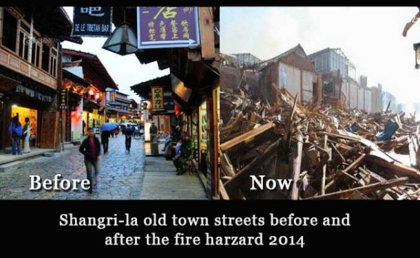 The Fire Hazard Flattened Two-third of The Shangri-la Tibetan Old Town