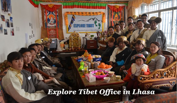 Explore Tibet Staffs Celebrated Tibetan New Year at the Office