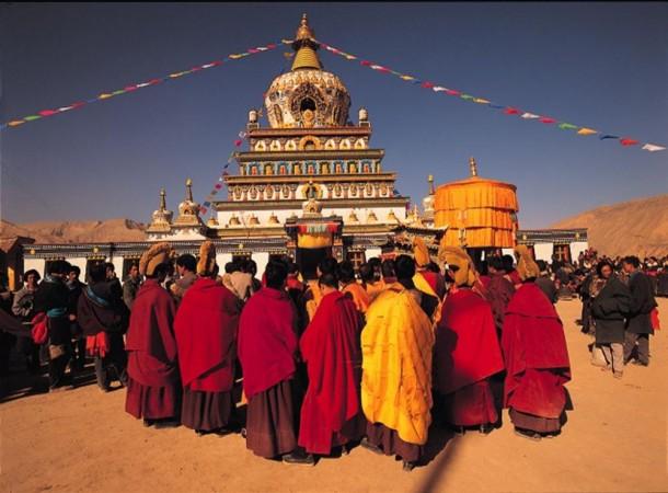 Tsurphu monastery Religious festival | Explore Tibet