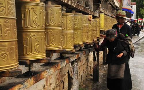 Tibet Kaleidoscope of Prayer Wheels