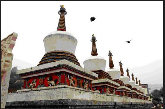 Buddhist Stupas-Tibet