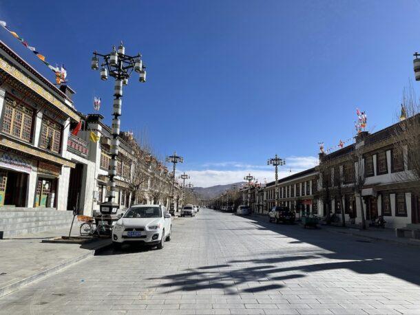 Gyantse town in Tibet