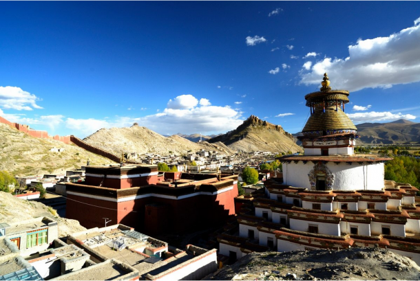 Gyantse-One Of The Trade Center Of Tibet.