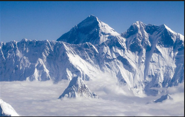Majesty Snowed Capped Mountain Of Tibet-Everest-Tibet.