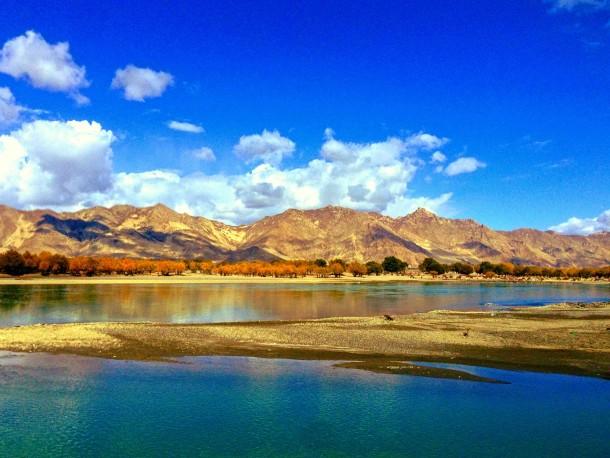 Lhasa Valley in Tibet