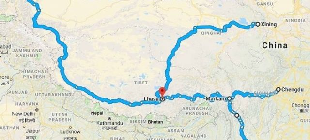 Top Four Overland Routes to Lhasa