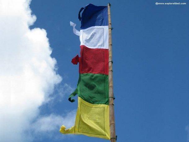 """Darchog or """"Flagstaff"""" Prayer Flags"""