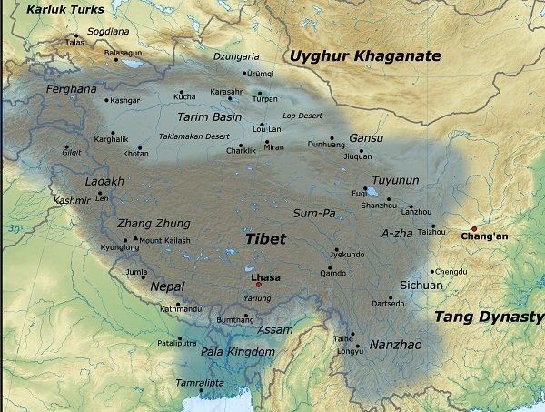 The Neighbors of Tibet and Borders to Enter Tibet