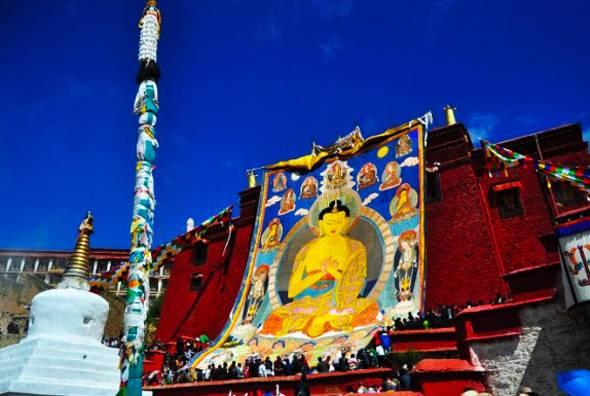 Ganden Thangka Festival at Ganden Monastery