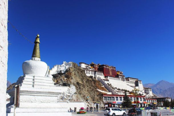 Lhasa Valley in Tibet