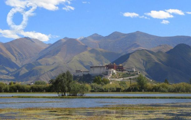 Lalu Wetlands in Lhasa