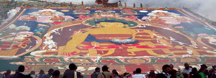 Festival at Drepung monastery