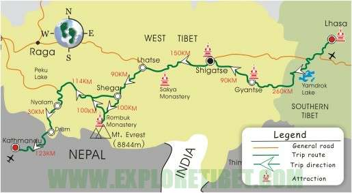 8 Days Overland to Nepal Tour- Tibet travel