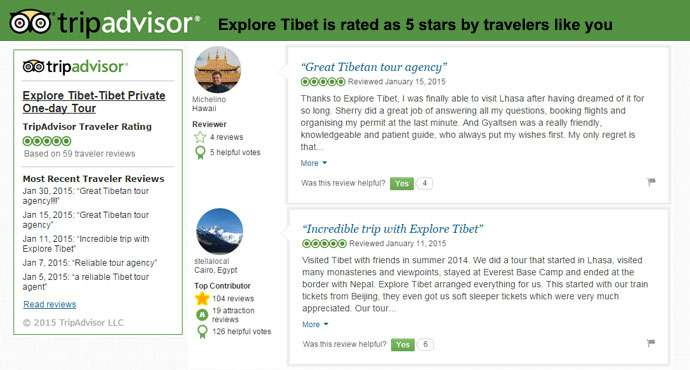 Tibetan tour agencies recommended by trip advisor