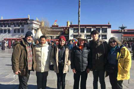 Tibet group tour visit to Jokhang temple