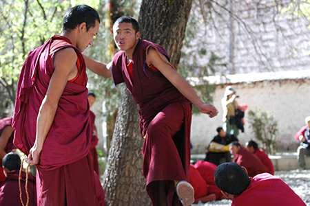 Tibet group tour visit to Sera monastery | Explore Tibet