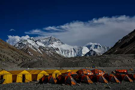 Mt Everest Base Camp in Tibet