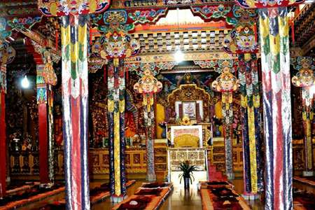 Tibet Sakya monastery assembly hall
