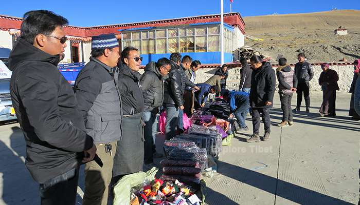Explore Tibet provide winter clothes to villages in Tibet