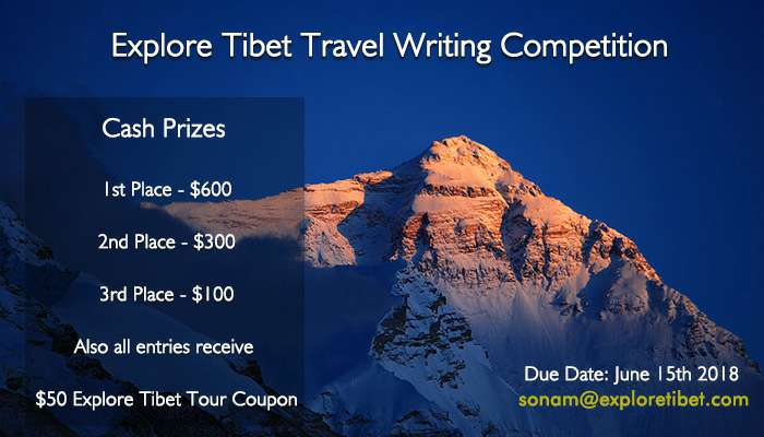 Explore Tibet Travel Story Writing Competition