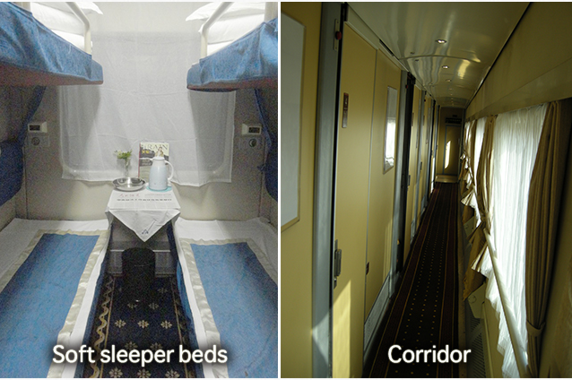 Tibet train soft sleeper