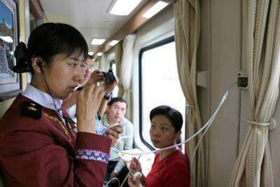 Oxygen on the Tibet train