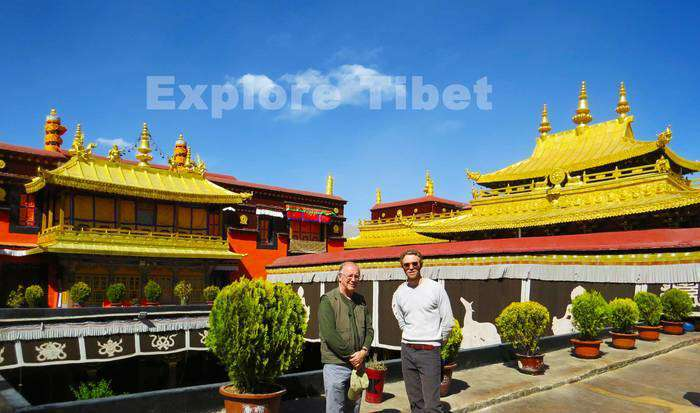 With our Clients at Jokhang Temple -Explore Tibet