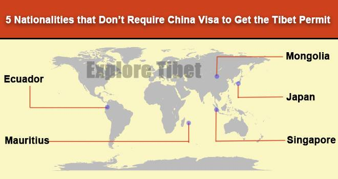 5 Countries that don't require China visa to get Tibet permit | Explore Tibet