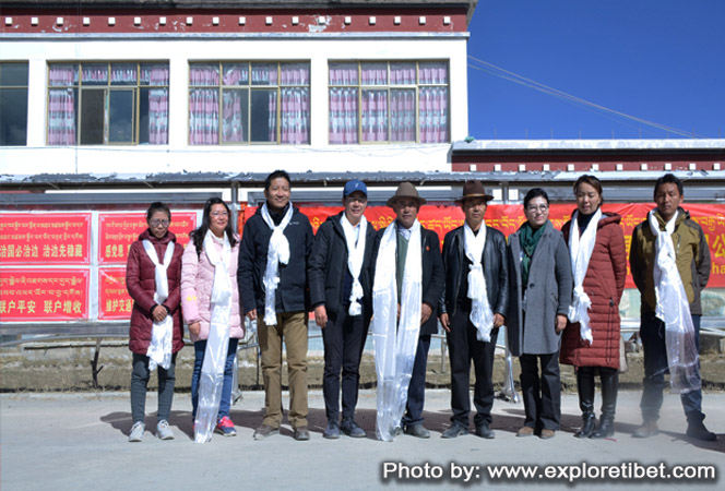 Explore Tibet staffs were greeting for their generosity