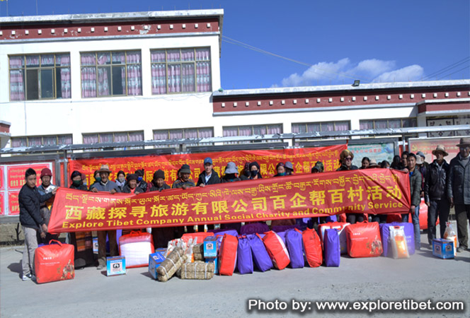 Explore Tibet travel company community service