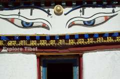 Buddha Eyes at Kumbum monastery at Gyantse